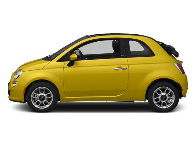 Giallo (Yellow) 2014 FIAT 500c Pictures 500c Convertible 2D Lounge I4 photos side view