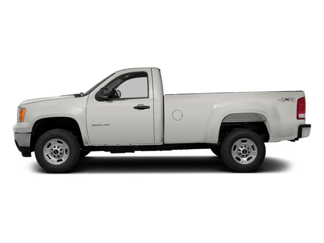 Summit White 2014 GMC Sierra 3500HD Pictures Sierra 3500HD Regular Cab SLE 4WD photos side view