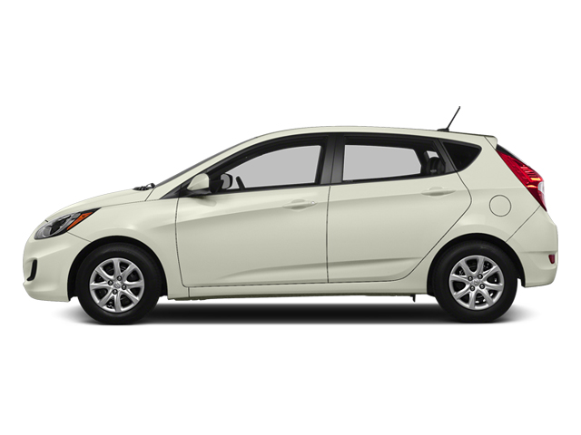 Century White 2014 Hyundai Accent Pictures Accent Hatchback 5D GS I4 photos side view