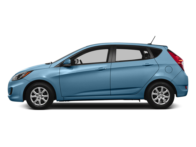 Clearwater Blue Metallic 2014 Hyundai Accent Pictures Accent Hatchback 5D GS I4 photos side view