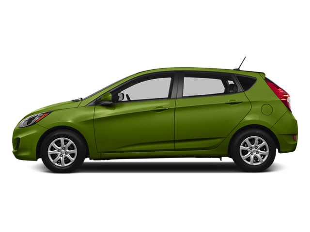 Electrolyte Green Pearl 2014 Hyundai Accent Pictures Accent Hatchback 5D GS I4 photos side view