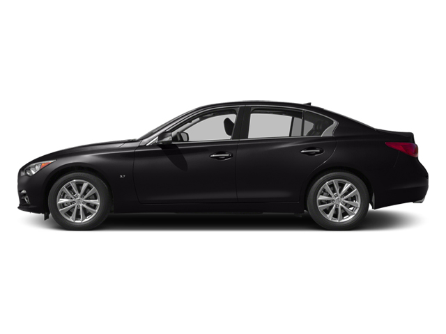 Malbec Black 2014 INFINITI Q50 Pictures Q50 Sedan 4D Premium V6 photos side view