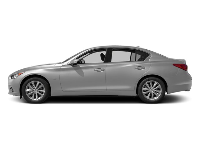 Liquid Platinum 2014 INFINITI Q50 Pictures Q50 Sedan 4D Premium V6 photos side view