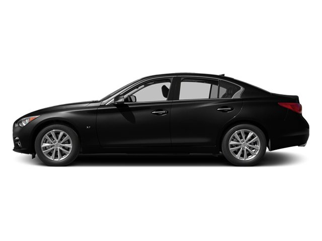 Black Obsidian 2014 INFINITI Q50 Pictures Q50 Sedan 4D Sport V6 photos side view