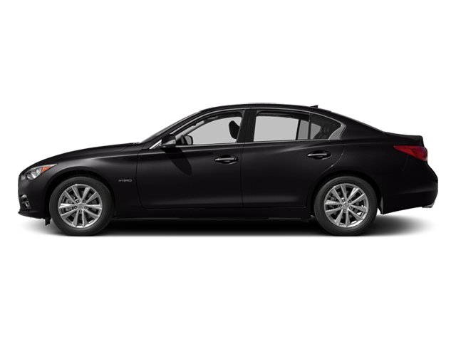 Malbec Black 2014 INFINITI Q50 Pictures Q50 Sedan 4D Premium AWD V6 Hybrid photos side view