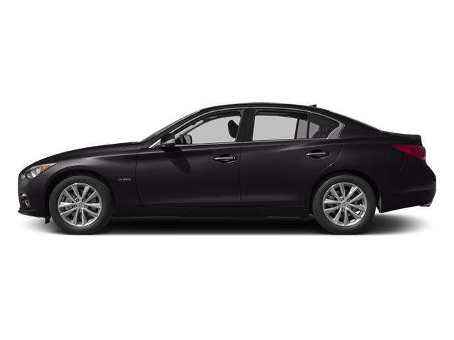 Malbec Black 2014 INFINITI Q50 Pictures Q50 Sedan 4D Premium V6 Hybrid photos side view