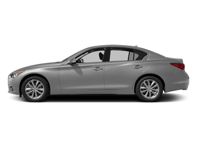 Liquid Platinum 2014 INFINITI Q50 Pictures Q50 Sedan 4D Premium V6 Hybrid photos side view