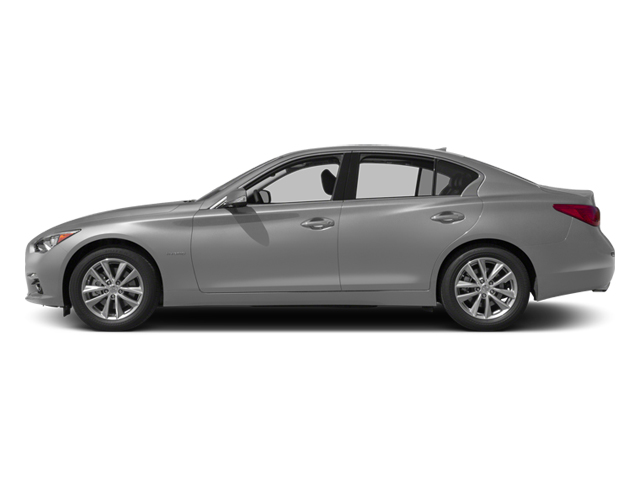 Liquid Platinum 2014 INFINITI Q50 Pictures Q50 Sedan 4D Premium AWD V6 Hybrid photos side view