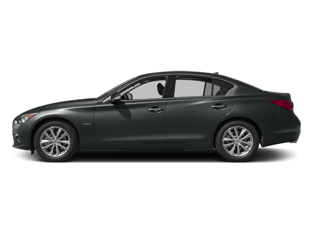 Graphite Shadow 2014 INFINITI Q50 Pictures Q50 Sedan 4D Premium V6 Hybrid photos side view
