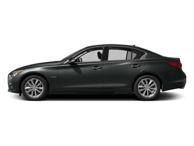 Graphite Shadow 2014 INFINITI Q50 Pictures Q50 Sedan 4D Premium AWD V6 Hybrid photos side view