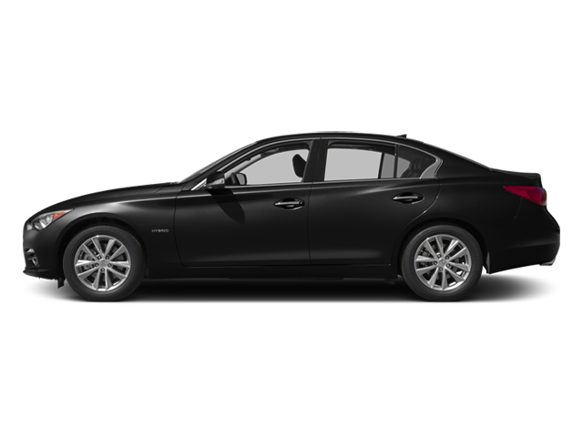 Black Obsidian 2014 INFINITI Q50 Pictures Q50 Sedan 4D Premium AWD V6 Hybrid photos side view