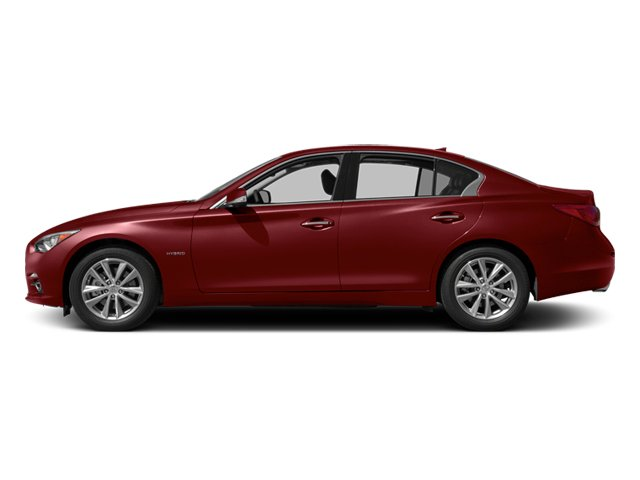 Venetian Ruby 2014 INFINITI Q50 Pictures Q50 Sedan 4D Premium V6 Hybrid photos side view