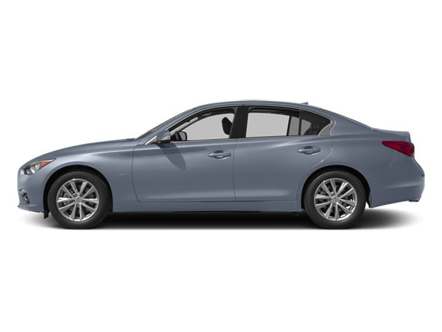 Hagane Blue 2014 INFINITI Q50 Pictures Q50 Sedan 4D Sport V6 Hybrid photos side view