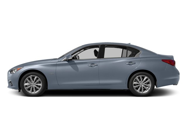 Hagane Blue 2014 INFINITI Q50 Pictures Q50 Sedan 4D Premium AWD V6 Hybrid photos side view