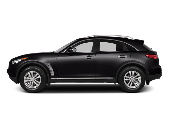 Malbec Black 2014 INFINITI QX70 Pictures QX70 Utility 4D AWD V8 photos side view