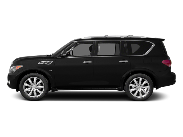 Black Obsidian 2014 INFINITI QX80 Pictures QX80 Utility 4D 2WD V8 photos side view