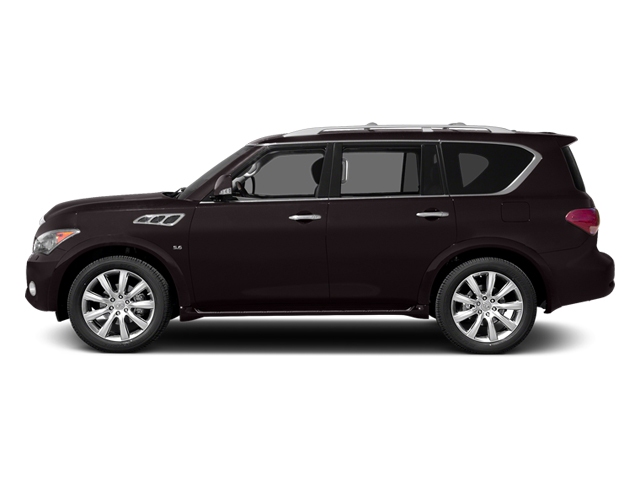 Dark Currant 2014 INFINITI QX80 Pictures QX80 Utility 4D 2WD V8 photos side view