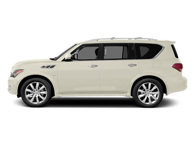 Moonlight White 2014 INFINITI QX80 Pictures QX80 Utility 4D 2WD V8 photos side view