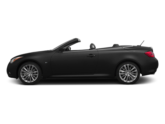 Black Obsidian 2014 INFINITI Q60 Convertible Pictures Q60 Convertible Convertible 2D Sport V6 photos side view
