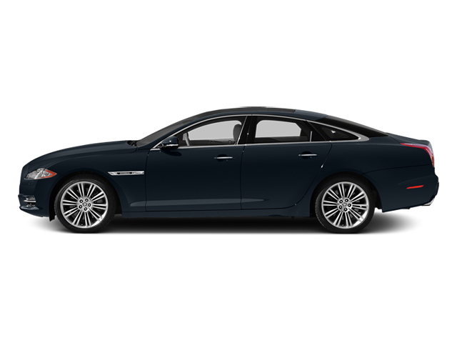 Dark Sapphire Metallic 2014 Jaguar XJ Pictures XJ Sedan 4D L XJR V8 Supercharged photos side view