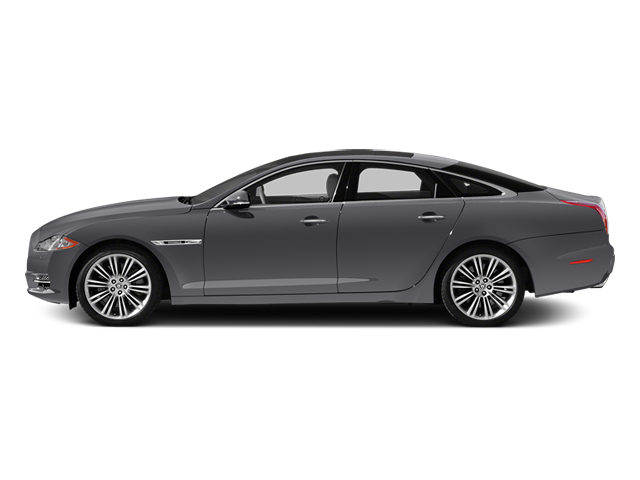 Lunar Grey Metallic 2014 Jaguar XJ Pictures XJ Sedan 4D L XJR V8 Supercharged photos side view
