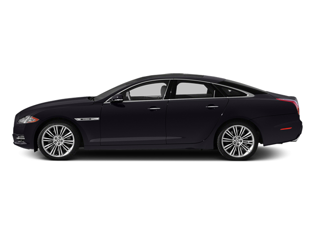 Ultimate Black Metallic 2014 Jaguar XJ Pictures XJ Sedan 4D L XJR V8 Supercharged photos side view