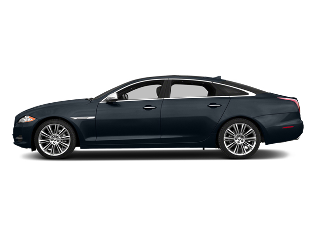 Dark Sapphire Metallic 2014 Jaguar XJ Pictures XJ Sedan 4D L Portolio V6 photos side view
