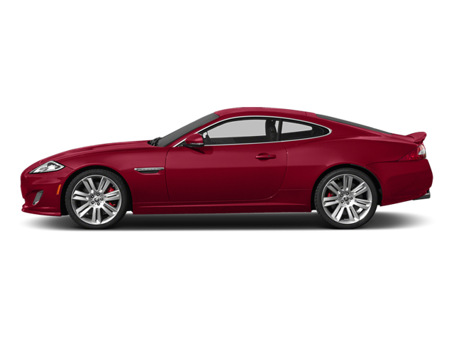 Carnelian Red Metallic 2014 Jaguar XK Pictures XK Coupe 2D XKR V8 Supercharged photos side view