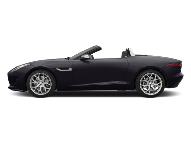Ultimate Black Metallic 2014 Jaguar F-TYPE Pictures F-TYPE Convertible 2D V6 photos side view