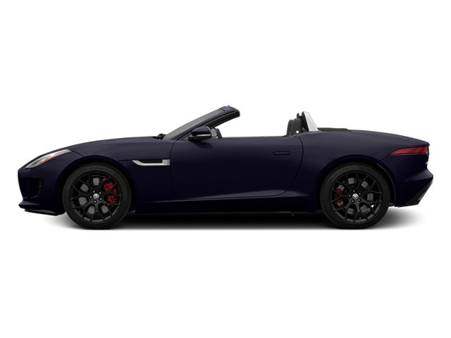 Black Amethyst Metallic 2014 Jaguar F-TYPE Pictures F-TYPE Convertible 2D S V6 photos side view