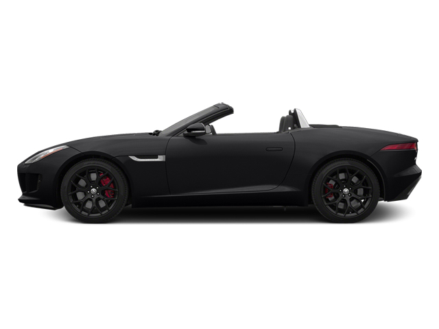 Ebony Black 2014 Jaguar F-TYPE Pictures F-TYPE Convertible 2D S V6 photos side view