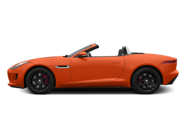 Firesand Metallic 2014 Jaguar F-TYPE Pictures F-TYPE Convertible 2D S V6 photos side view