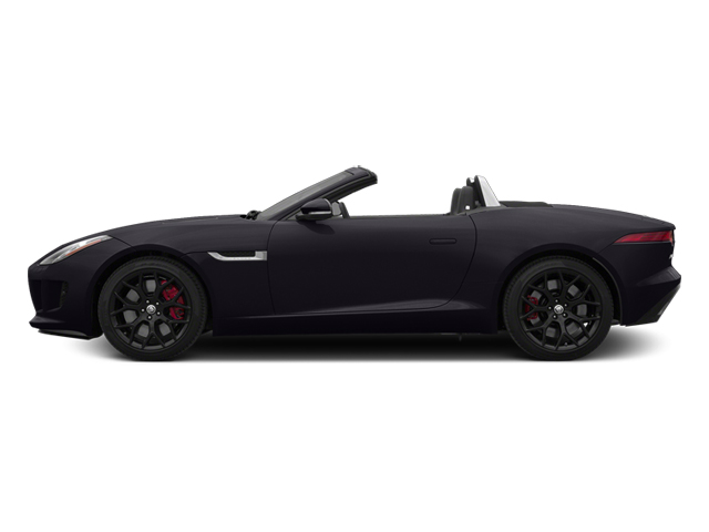 Ultimate Black Metallic 2014 Jaguar F-TYPE Pictures F-TYPE Convertible 2D S V6 photos side view