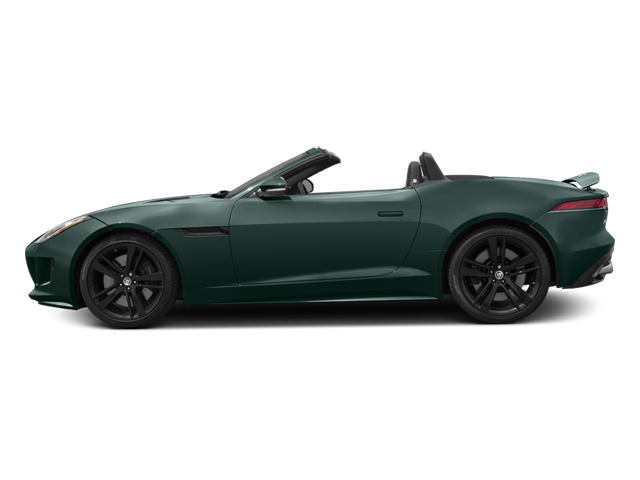 British Racing Green 2014 Jaguar F-TYPE Pictures F-TYPE Convertible 2D S V8 photos side view
