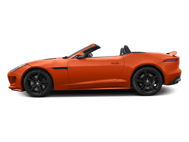 Firesand Metallic 2014 Jaguar F-TYPE Pictures F-TYPE Convertible 2D S V8 photos side view
