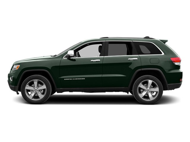 Black Forest Green Pearlcoat 2014 Jeep Grand Cherokee Pictures Grand Cherokee Utility 4D Overland 2WD photos side view