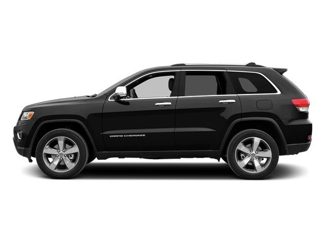 Brilliant Black Crystal Pearlcoat 2014 Jeep Grand Cherokee Pictures Grand Cherokee Utility 4D Overland 2WD photos side view
