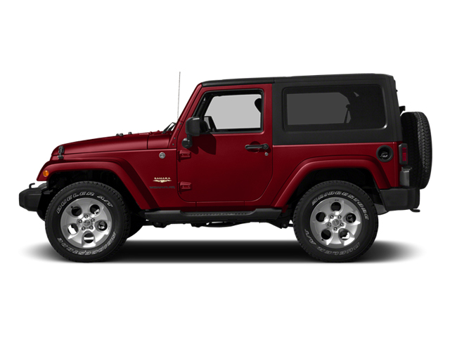 Flame Red Clearcoat 2014 Jeep Wrangler Pictures Wrangler Utility 2D Rubicon 4WD V6 photos side view