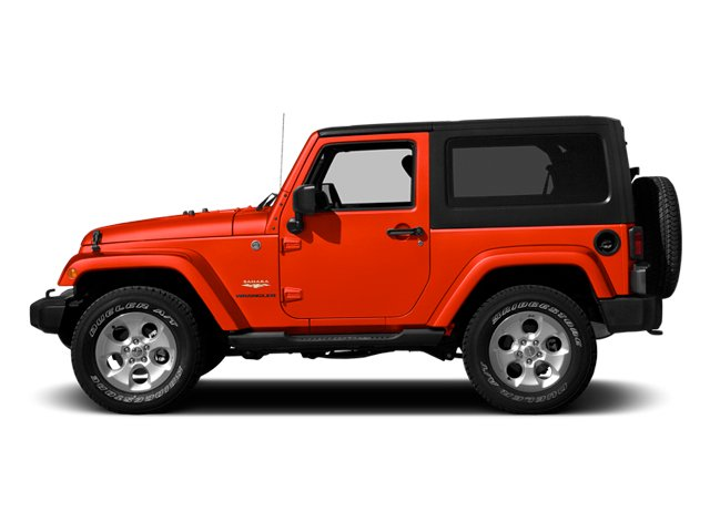 Firecracker Red Clear Coat 2014 Jeep Wrangler Pictures Wrangler Utility 2D Rubicon 4WD V6 photos side view