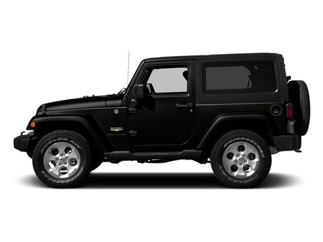 Black Clearcoat 2014 Jeep Wrangler Pictures Wrangler Utility 2D Altitude 4WD V6 photos side view