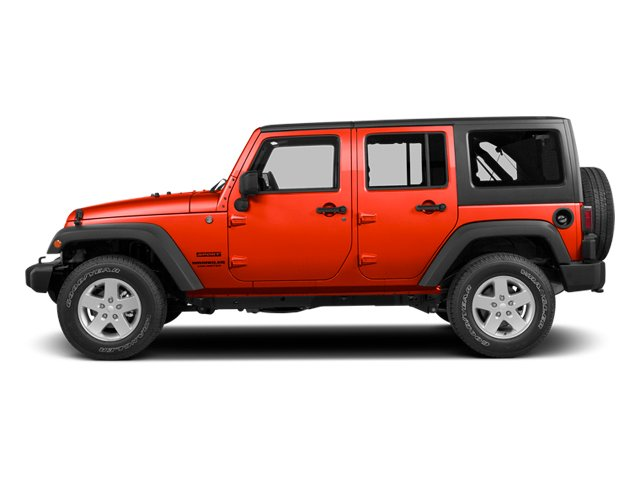 Firecracker Red Clear Coat 2014 Jeep Wrangler Unlimited Pictures Wrangler Unlimited Utility 4D Unlimited Rubicon 4WD V6 photos side view