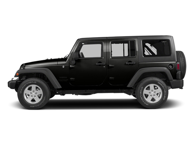 Black Clearcoat 2014 Jeep Wrangler Unlimited Pictures Wrangler Unlimited Utility 4D Unlimited Altitude 4WD V6 photos side view
