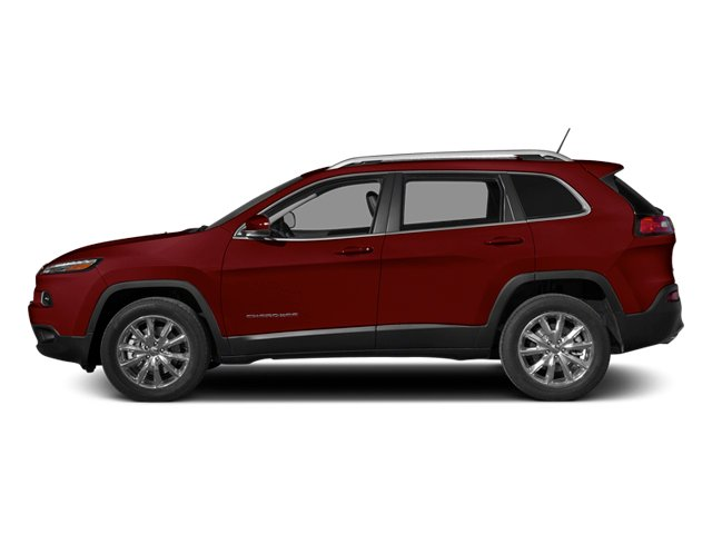 Deep Cherry Red Crystal Pearlcoat 2014 Jeep Cherokee Pictures Cherokee Utility 4D Latitude 4WD photos side view