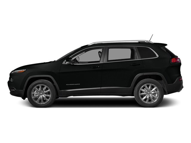 Brilliant Black Crystal Pearlcoat 2014 Jeep Cherokee Pictures Cherokee Utility 4D Limited 4WD photos side view