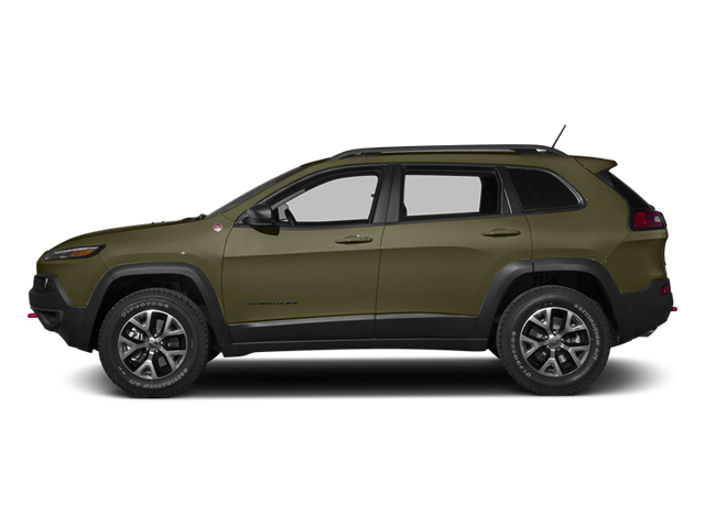 Eco Green Pearlcoat 2014 Jeep Cherokee Pictures Cherokee Utility 4D Trailhawk 4WD photos side view