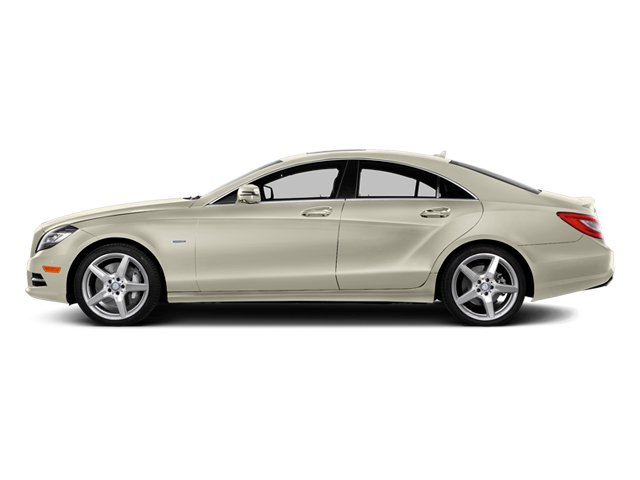 Diamond White Metallic 2014 Mercedes-Benz CLS-Class Pictures CLS-Class Sedan 4D CLS550 AWD photos side view