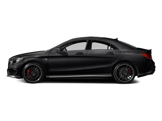 Night Black 2014 Mercedes-Benz CLA-Class Pictures CLA-Class Sedan 4D CLA45 AMG AWD I4 Turbo photos side view
