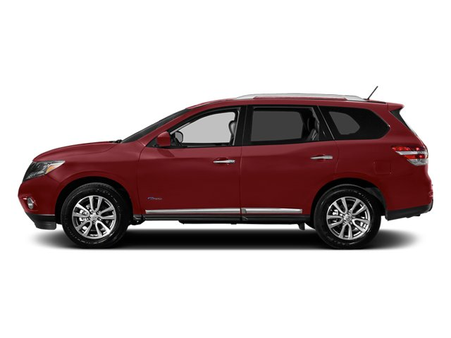 Cayenne Red 2014 Nissan Pathfinder Pictures Pathfinder Utility 4D Platinum 2WD I4 Hybrid photos side view