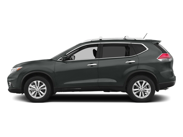 Gun Metallic 2014 Nissan Rogue Pictures Rogue Utility 4D SL AWD I4 photos side view