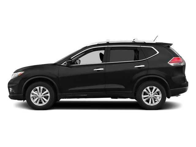 Super Black 2014 Nissan Rogue Pictures Rogue Utility 4D SL AWD I4 photos side view